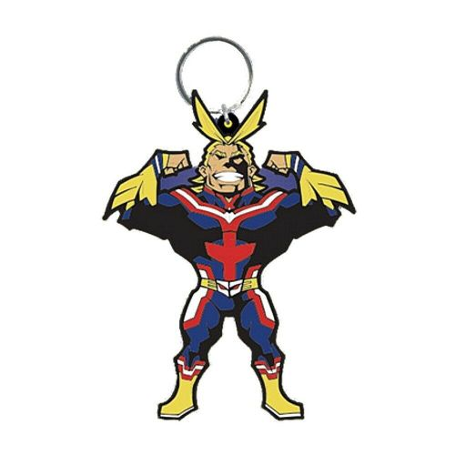 My Hero Academia All Might Keyring Rubber Keychain Fob